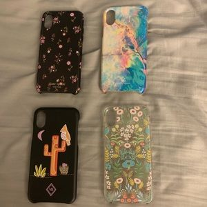 iPhone X xs cases covers, set of four